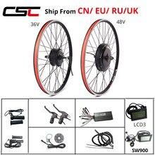 Kit de Conversion pour vélo électrique, roue motorisée avant et arrière de 20-29 pouces, 700C, 36V, 250W, 48V, 1000W, 1500W