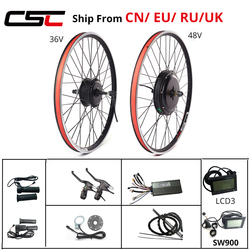 Electric Bike Conversion Kit 20-29 Inch 700C eBIKE Conversion Kit 36V 250W 48V 1000W 1500W Front Rear Bicycle Hub Motor Wheel