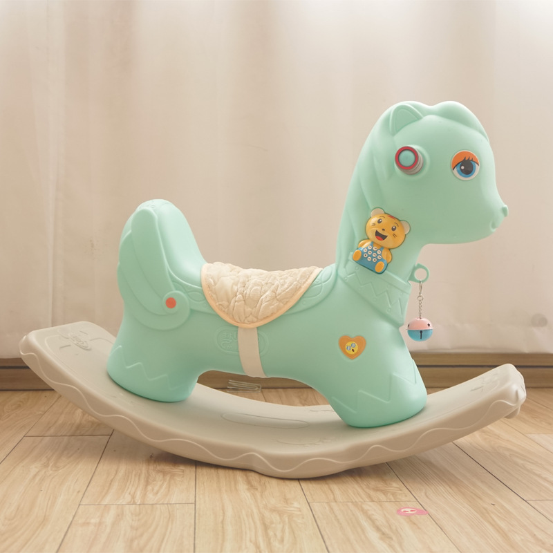 Children's Music Rocking Horse Environmental Protection Plastic Baby 1-5 Year Old Toy Toddler Rocking Chair Small  Furniture