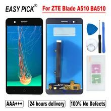 Pantalla LCD táctil para ZTE Blade A510 BA510, montaje de digitalizador con Marco, herramientas gratuitas
