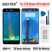 ل ZTE بليد A510 BA510 شاشة الكريستال السائل مجموعة المحولات الرقمية لشاشة تعمل بلمس مع الإطار أدوات مجانية