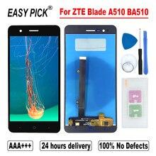 ZTE Blade A510 BA510 LCD ekran dokunmatik ekranlı sayısallaştırıcı grup ile çerçeve ücretsiz araçları