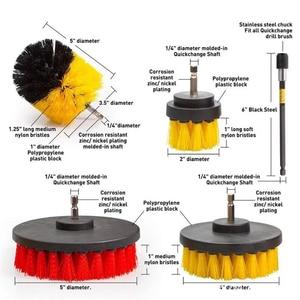Image 2 - 2/3.5/4/5 tools tools ferramentas de limpeza do cuidado automático broca escova limpeza esfregando escovas para a superfície do banheiro grout telha banheira chuveiro cozinha