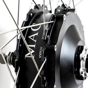 "Image 5 - New 48V1000W MAC geared rear 8T cassette hub motor Electric bike Kit 26"" 27.5"" 28 Wheel electric bike conversion kit 45km/h"