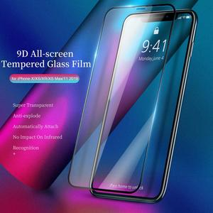 Image 2 - 3D Tempered Glass for iPhone 11 Pro Max on iPhone XR X XS Max Full Cover Screen Protector Protective Glass for iPhone 11Pro 2019