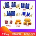 2 / 5 / 10 пар, штекеры для аккумуляторов XT60, XT90, EC2, EC3, EC5, EC8 t