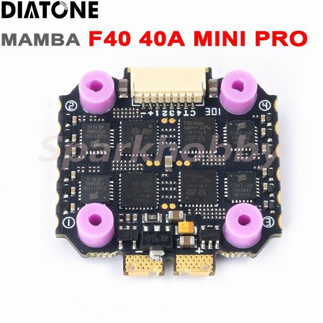 Diatone MAMBA F40 40A MINI PRO ESC Dshot 300/600/1200 32Bit 4IN1 2-6s contrôleur de vitesse électrique Lipo pour Drones de course RC FPV