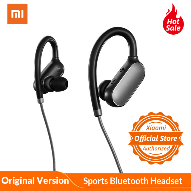 Original Xiaomi Mi Sports Bluetooth Headset Bluetooth 4 1 Music Earbuds Mic Ipx4 Waterproof Wireless Earphones For Xiaomi Redmi Phone Earphones Headphones Aliexpress