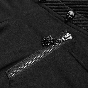 Image 5 - PUNK RAVE Gothic Mens Black Mysterious Men Long Sleeve T shirt Punk Rock Hooded Show Thin Sweatshirt Irregular Casual Tops Tees
