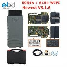 Original oki 5054a 6154 lates 5.1.6 completo chip bluetooth amb2300 obd2 ferramenta de diagnóstico do carro auto obd 2 código scanner ferramenta de diagnóstico