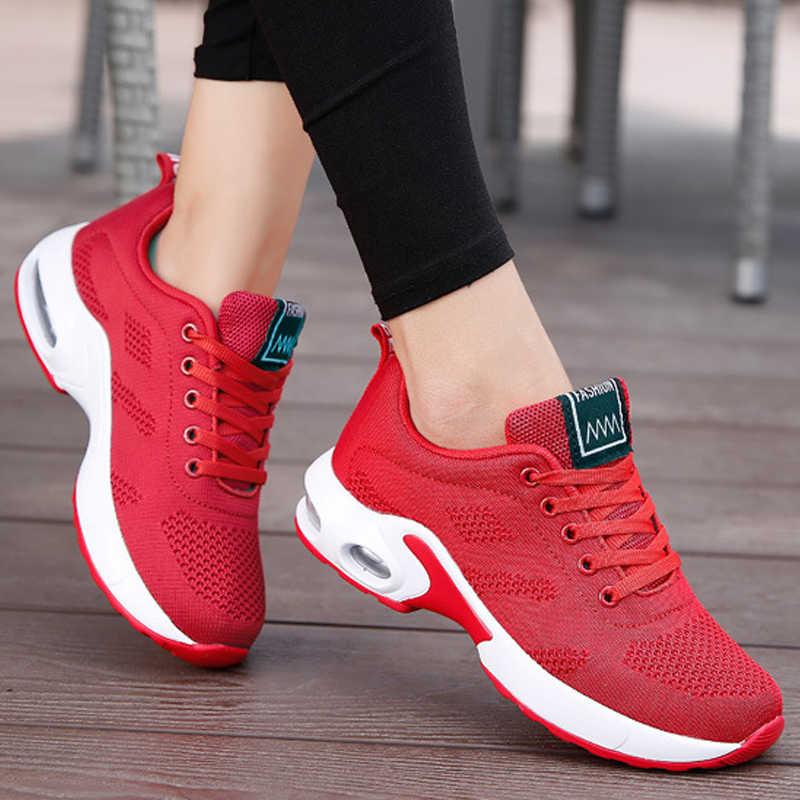 Moda donna Sneakers scarpe da corsa scarpe sportive all'aperto traspirante Comfort leggero scarpe da ginnastica da corsa cuscino d'aria stringate