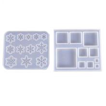 2019 formy silikonowe do REesin Snowflake kwadratowa forma do tworzenia biżuterii DIY tworzenie biżuterii akcesoria narzędzia jubilerskie z żywicy UV tanie tanio CN (pochodzenie) 0 4cm Mold SILICONE Epoxy mold