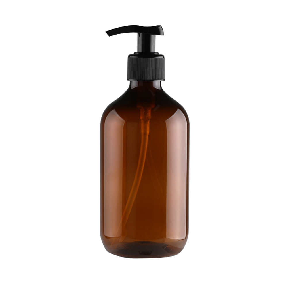 500 мл бутылка для многоразового использования Пресс насос шампунь мыло жидкая Косметика дозатор жидкости - Цвет: Коричневый