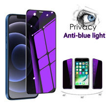 Anti blue Light Privacy Screen Protector for IPhone 12 11 Pro Max Anti Spy Protective Glass for IPhone XS Max X XR 6 6S 7 8 Plus