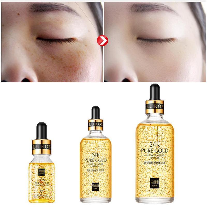 24K Gold Anti-Wrinkle Face Serum Face Serum Firming Nicotinamide Whitening Moisturizing Brighten Skin Care