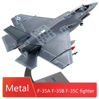 1:72 F35 Fighter Model Stealth Aircraft Model Diecast Alloy F 35A F 35B F 35C Military Air Plane Model Ornaments Finished Toys