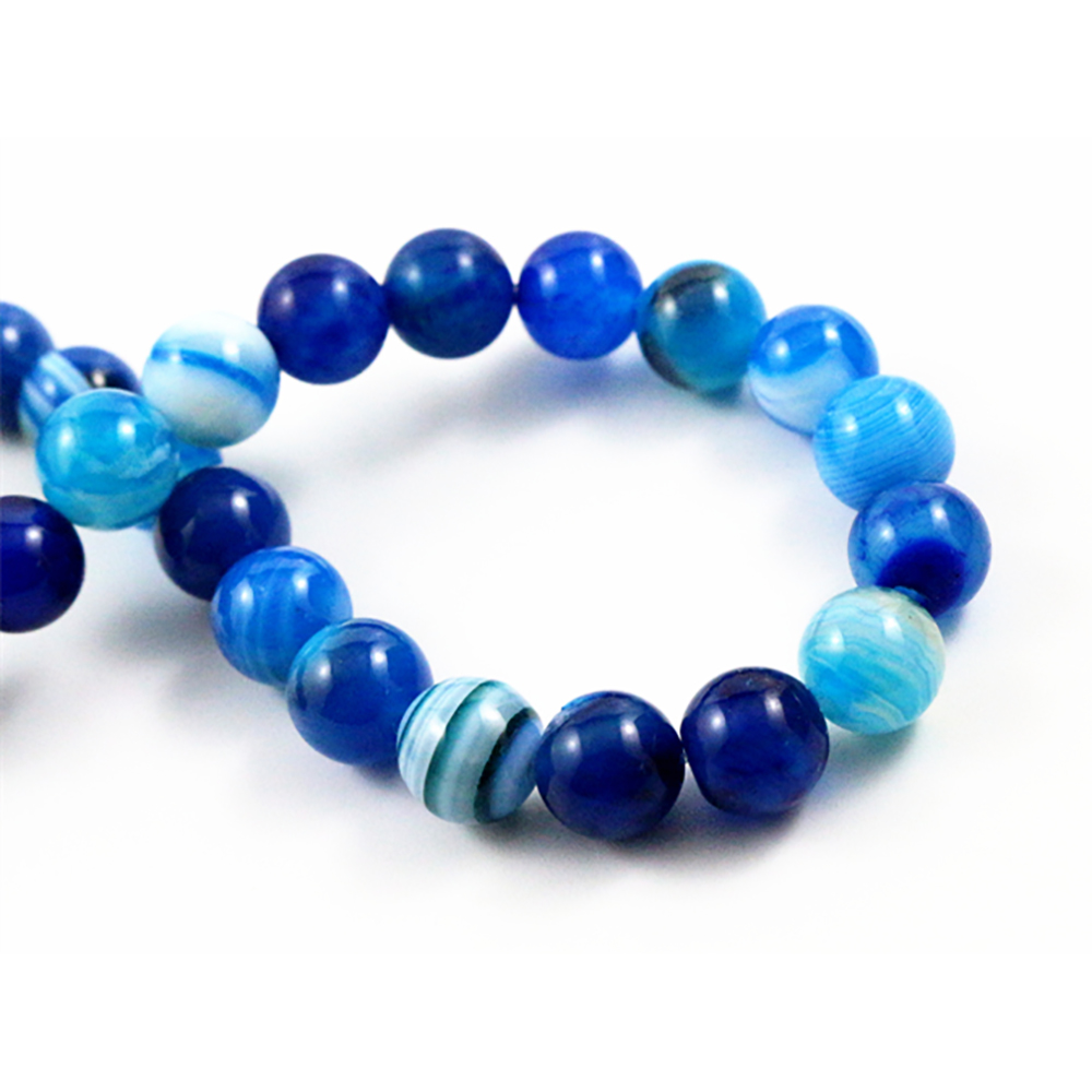 8mm 45pcs/string Natural Blue Lines Stone Special Stone Round Beads For Jewelry Making Wholesale And Retail-M7-05