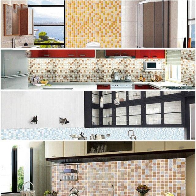 Mosaic Wall Tile Peel and Stick  Self adhesive Backsplash DIY Kitchen Bathroom Home Wall Sticker Vinyl 3D 6