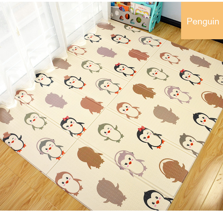 H0af10af9e378474686a5a3d6f09cff70d XPE Folding Baby Play Mat 1cm Thick Crawling Toys for Children's Carpet Climbing Gyme Game Road Pad Living Room Home Kids Rug