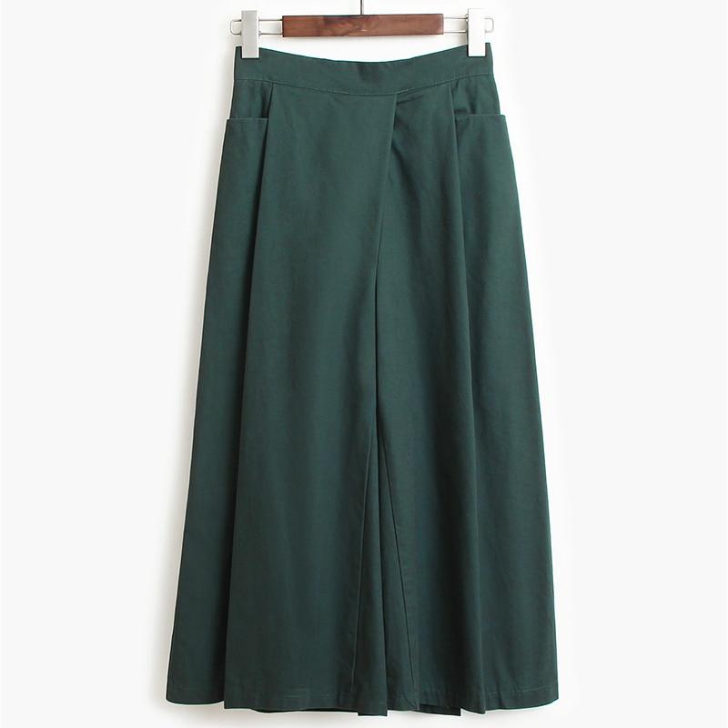 [EAM] High Elastic Waist Pleated Split Long Wide Leg Trousers New Loose Fit Pants Women Fashion Tide Spring Autumn 2020 1S516