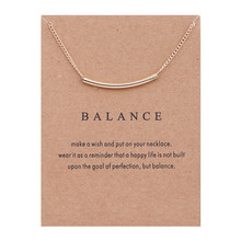 Fashion Choker Necklace Jewelry New Arrived Golden Balance Bar Message Pendant Chockers For Women Gift