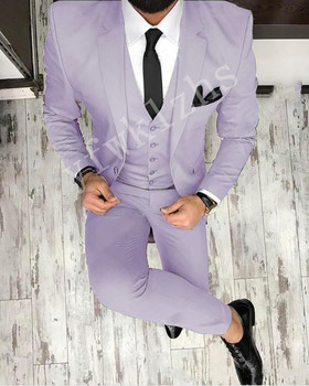 Handsome One Button Groomsmen Notch Lapel Groom Tuxedos Men Suits Wedding/Prom Best Man Blazer ( Jacket+Pants+Tie+Vest) 975 notch lapel pocket one button blazer and pants twinset
