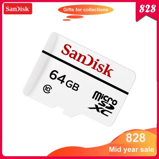 100% Оригинал SanDisk micro SD карта 64 Гб высокая выносливость видео мониторинг microsd карта памяти класс 10 20 МБ/с./с TF карта SDSQQND