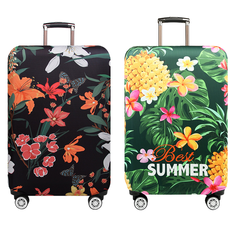 LEISISI Hand Painted Sunset Windmill Luggage Cover Elastic Protector Fits XL 29-32 in Suitcase