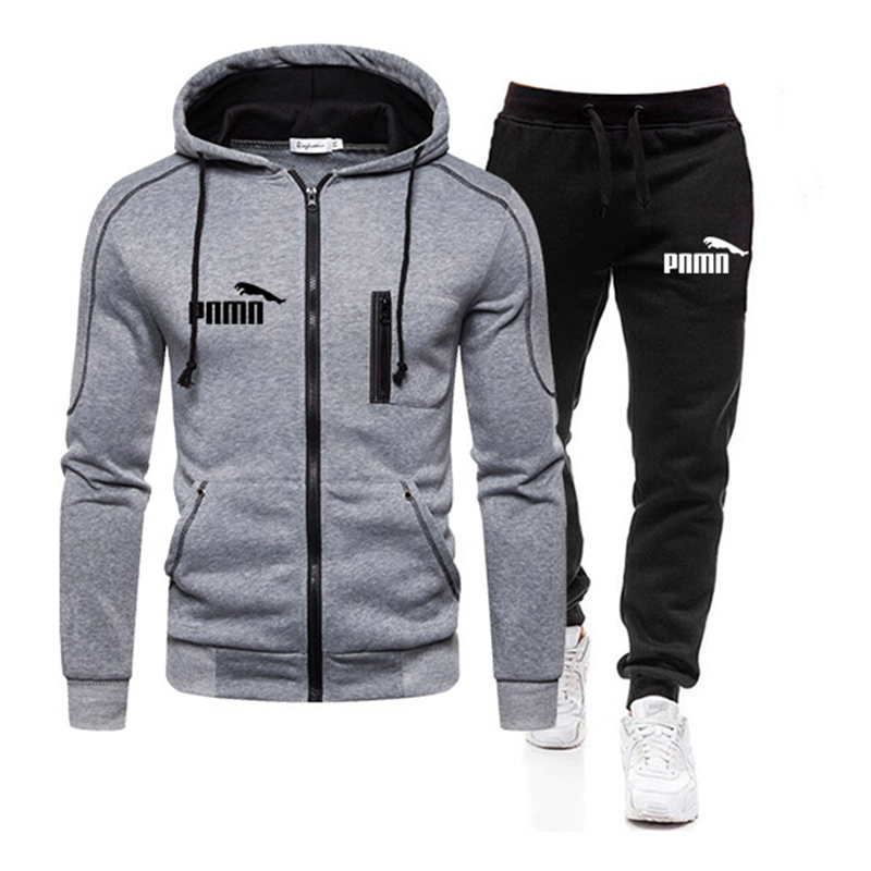 Two Piece Tracksuit Set for Men, Sportswear for Men, Hooded Jacket and Pants, Tracksuit, Men's Clothing,  Plus Size S-3XL 4