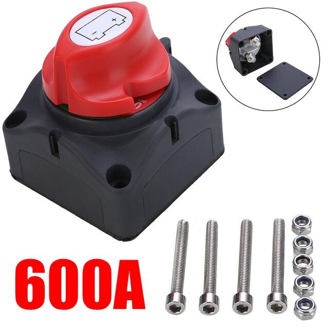 1pc 24V 600A Auto Batterie Isolator Wichtigsten Batterie Not Pole Trennen Separator Schalter für RV Boot 68*68*74mm