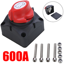 1pc 24V 600A Car Battery Isolator Main Battery Switch Emergency Stop Pole Disconnect Separator Switch for RV Boat 68 * 68 * 74mm