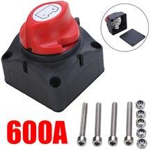 1pc 24v 600a interruptor principal da bateria do isolador da bateria de carro pólo de parada de emergência desconexão interruptor do separador para o barco do rv 68*68*74mm