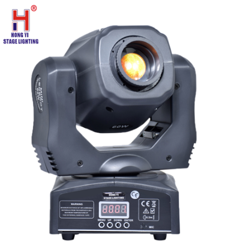 Led Moving Head Light Dmx Led 60w Mini Projector Spot Lights Dj Lighting With Dj 7 Gobo Stage Lighting Effect For  Led Diso