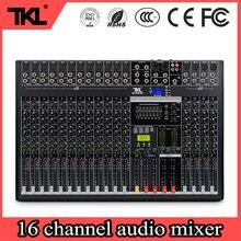 TKL 16 Channels Sound DJ mixer Bluetooth USB Record Computer Playback mp3 48V Phantom Power Audio Mixer