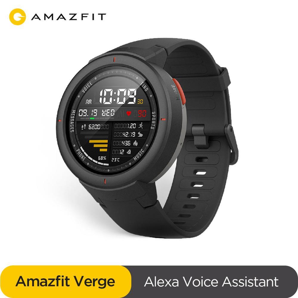 original global Amazfit Verge Sport Smartwatch GPS GLONASS Internal Storage Call Answer Smart Message Push Heart Rate Monitor