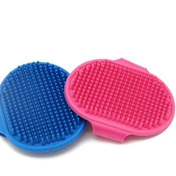 Szczotka dla psa grzebień masaż dla zwierząt włosy usuń rękawica pies narzędzia fryzjerskie prysznic dla zwierząt czyszczenie pielęgnacja masowanie rękawica do mycia tanie i dobre opinie CN (pochodzenie) RUBBER