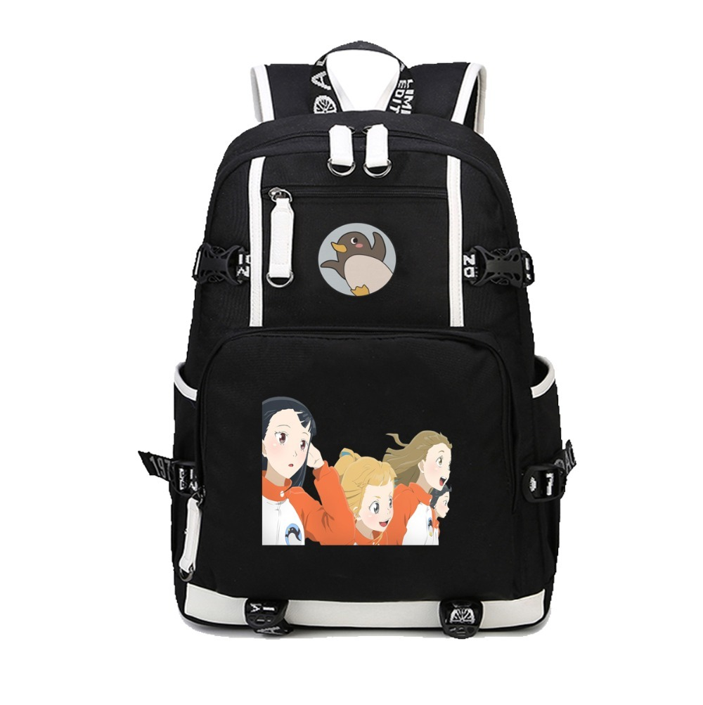 anime A Place Further Than the Universe Backpack School Students Bookbag Unisex canvas Bags men women Travel Knapsack image