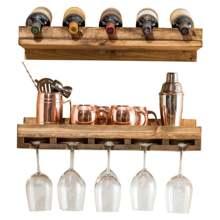 Hutson Designs Rustic Luxe Wine Bottle rack and Stemware Set