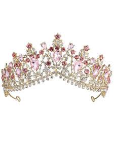 KMVEXO Pageant Crown Jewelry-Accessories Crystal-Tiaras Wedding-Hair Bridal Black Green