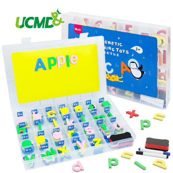 Classroom Magnetic Letters Uppercase Lowercase kit with Board, Alphabet for Kids Preschool Spelling Learning Toys Gift
