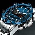 2020 럭셔리 브랜드 방수 군사 스포츠 시계 남자 실버 스틸 디지털 석영 아날로그 시계 시계 relogios masculinos