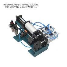 Пневматическая машина для зачистки проводов вертикальная силовая