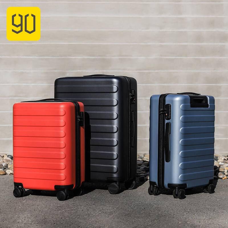 90Fun 20/24/28 pouces valise de voyage mot de passe roue Spinner fixation rétractable et mécanisme d'attache de sécurité bagage de voyage d'affaires mala de viagem