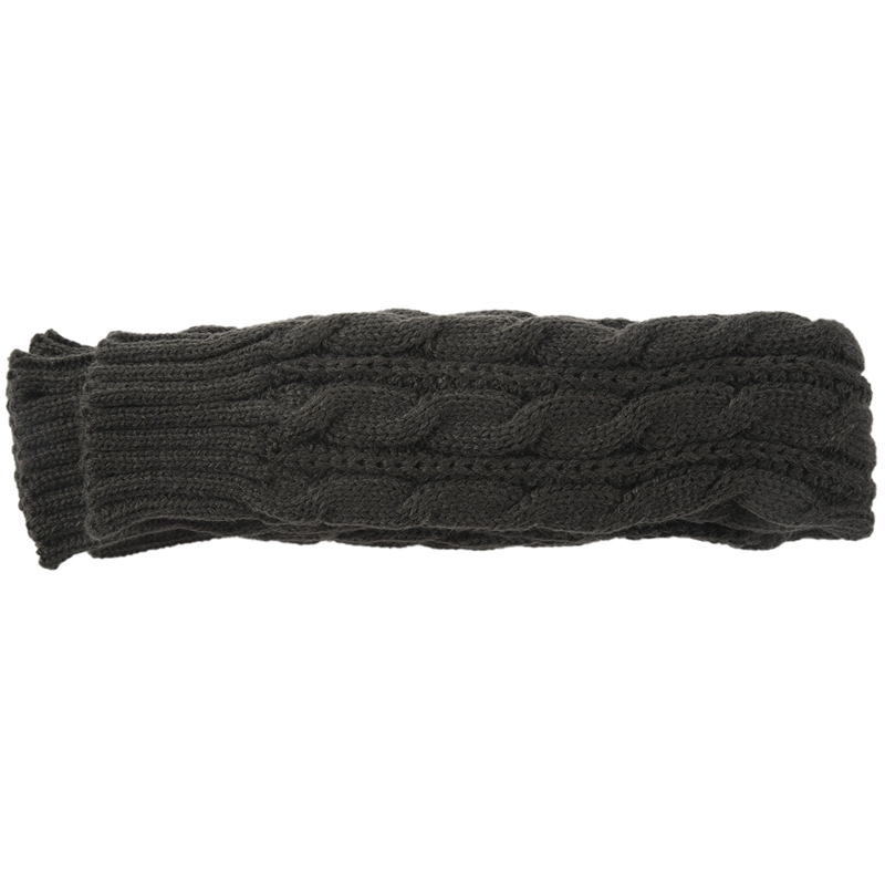 Fashion Winter Women Men Gloves Unisex Arm Warmer Long Fingerless Knit Mitten Dark Gray 50 Cm
