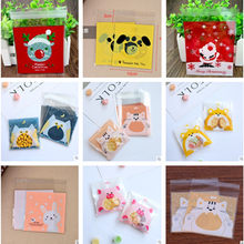 20Pcs Cute Cartoon Animals Cookie Candy Bag Self-Adhesive Plastic Bag For Wedding Birthday Party Biscuits Baking Gift Packaging(China)
