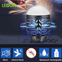 LEDGLE Mosquito killer Mosquito Lamp Rechargeable Photocatalysis Mute Radiationless Insect killer Flies trap lamp for baby light
