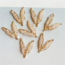 10 pçs/lote novo estilo retro japonês e coreano duas ervilhas pod imitação pérola moda broche costura dos desenhos animados botões de costura artesanato