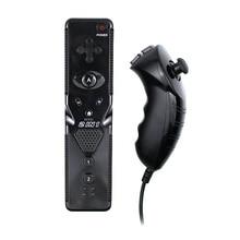 Built In Motion Plus Wireless Bluetooth Controller สำหรับ Wii Nunchuck สำหรับ Wii 2 ใน 1 เกม Controle จอยสติ๊ก