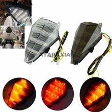 Luz traseira da cauda integrada led sinais de volta lanterna traseira para yamaha yzf r6 2006-2013 2007 2008 2009 2010 2011 2012