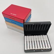 אופנה 20 חורים נפשי תיבת אלומיניום סגסוגת חומר סיגריות מקרה עבור IQOS סיגריות מחזיק תיבת אחסון מקרה